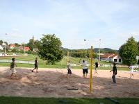 Beach-Volleyballfeld beim Sportplatz