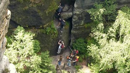 Klettersteig Jonsdorf : Die schönsten klettersteige in sachsen