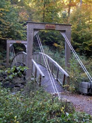 Foto Die Arthur-Lohse-Brücke im Rabenauer Grund.
