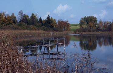 """Der Naturbadesee """"Blausee"""" liegt auf unserem Weg."""