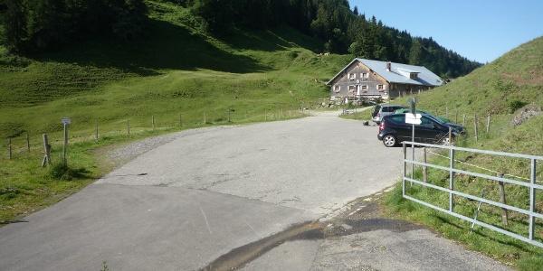 Alpe Scheidwang; Parkplatz