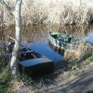Boote im Mollet dels Anglesos.