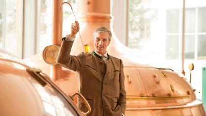 Brauereibesichtigung Herr Weiß im Sudhaus