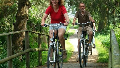 Radfahrer Brücke