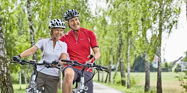 Radfahrer bei Bad Wörishofen