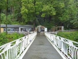 Foto Brücke vom Aufzug zum Luchsgehege