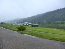 Foto Weitblick auf die Elbe