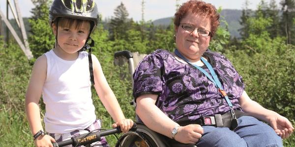 Barrierearmer Weg  für Rolli oder Fahrrad