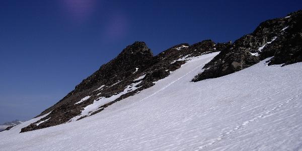 Der felsige Gipfel des Lenksteins.