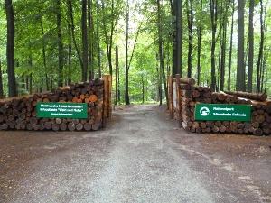Foto Haupteingang zur Waldhusche an der Buchenparkhalle
