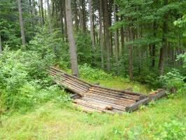 Foto Die Waldhusche verdankt ihren Namen dieser Rutsche für Baumstämme