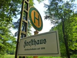 Foto Haltestelle der Kirnitzschtalbahn am Hotel Forsthaus