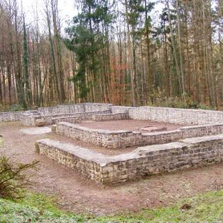Überreste des römischen Gutshofs.