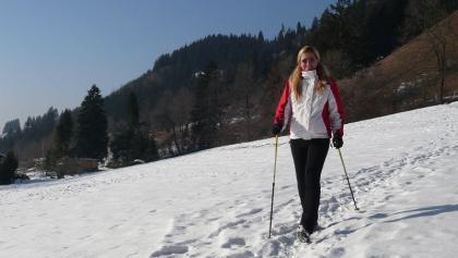 Der Bad Hindelanger Höhenweg im Winter.