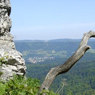 Der Blick vom Rand der Schwäbischen Alb.