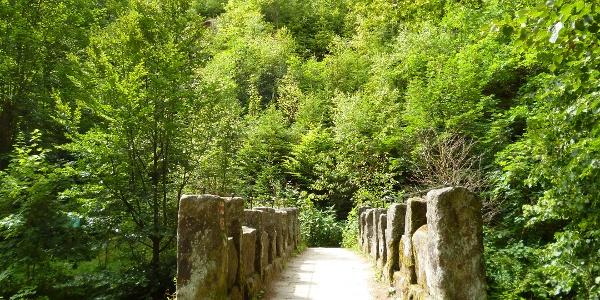 An dieser Brücke beginnen viele Wanderwege