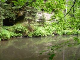 Foto Kirnitzsch zwischen Felswände