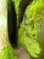 Foto Schmaler Eingang zur Dachshöhle