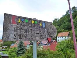 Foto Schild am Startpunkt in Hohnstein