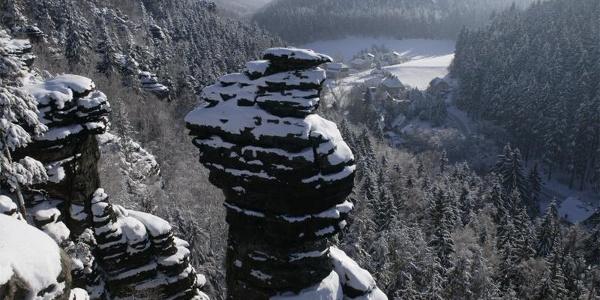 Blick zur Ottomühle im Bielatal