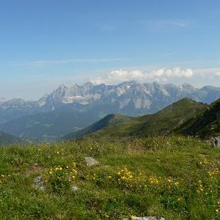Der Hochwurzen Höhenweg führt immer sanfter werdend bis zur Hochwurzen Bergstation