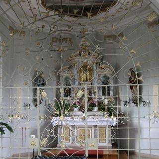 Das Innere der Sebastianskapelle.
