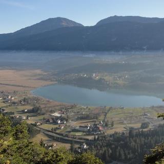 Aussicht vom Muttergottesfelsen auf den Pressegger See