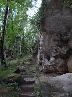 Foto Über Stufen zur Aussichtsterrasse