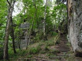 Foto Treppe zum Aussichtspunkt