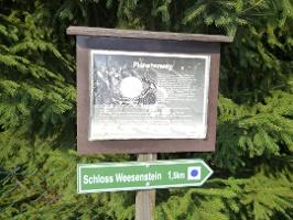 Foto Wegmarkierung zum Schloss Weesenstein