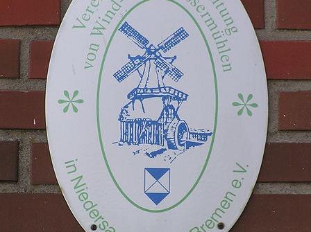 Das Emblem der Mühlenvereinigung in Niedersachsen und Bremen