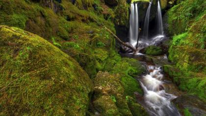 Die ursprünglichen Menzenschwander Wasserfälle.