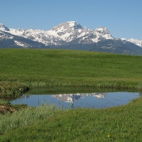 Guggenberg mit schönem Bergpanorama