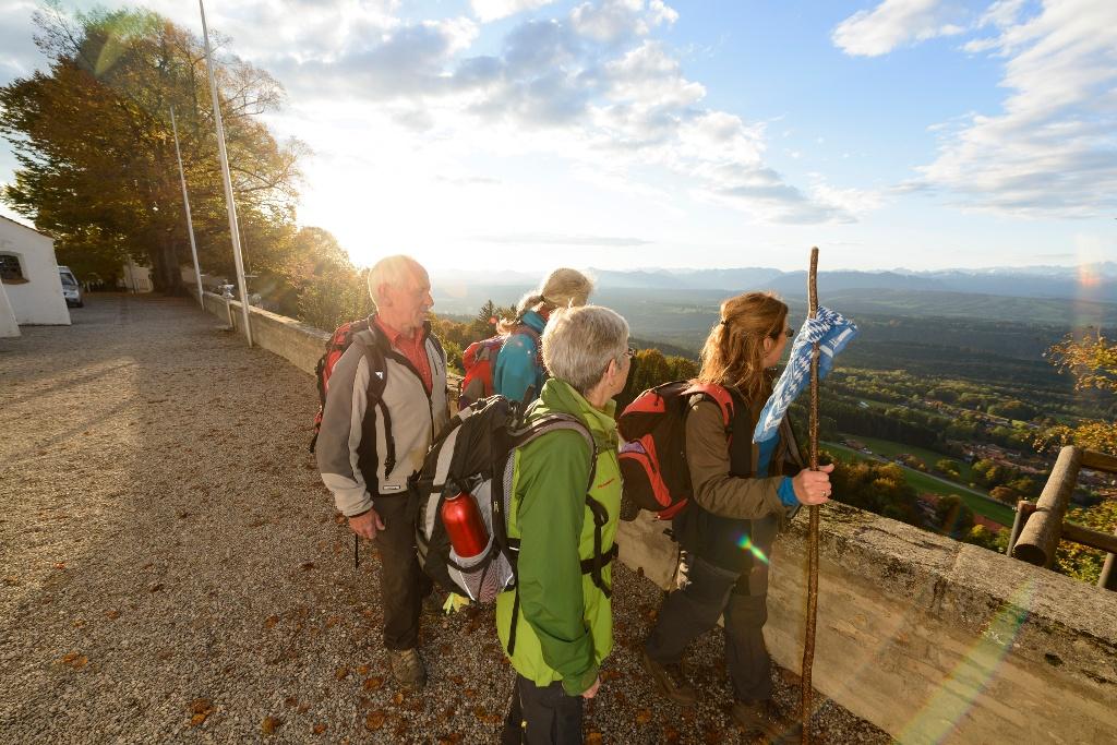 Blick auf das oberbayerischen Alpenvorland vom Hohenpeißenberg aus (Wolfgang Ehn)