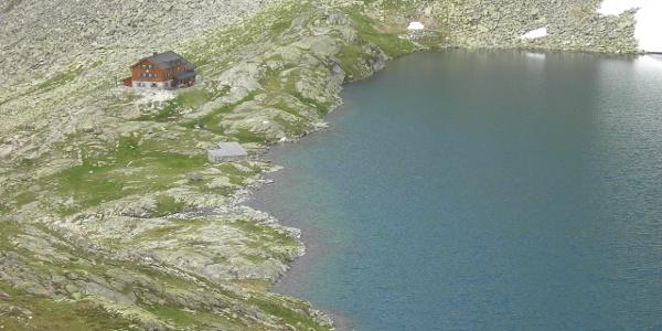 Unterer Wildgerlos See mit Zittauer Hütte