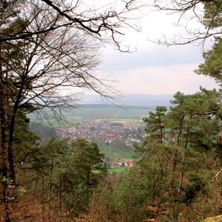 Blick auf Oberrosphe, das älteste Dorf im Burgwald.