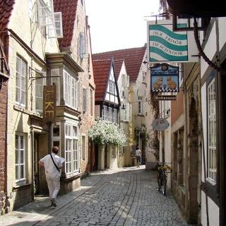Die Altstadt Schnoor in Bremen
