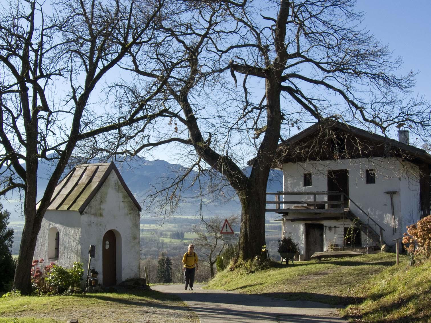 Panoramablick von Vordersteinberg auf das Inntal