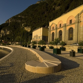 The hydroelectric plant in Riva del Garda