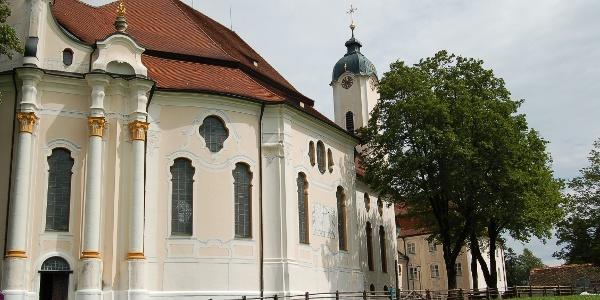 Die berühmte Kirche von Wies.
