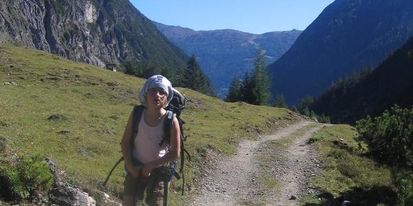 Auf dem Weg zur Steinseehütte