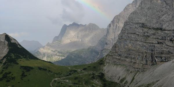 Blick von der Falkenhütte in Richtung Hohljoch