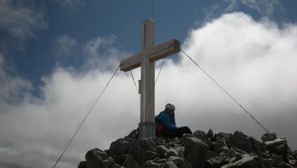 Piz Buin, 3.312m, Gipfelkreuz