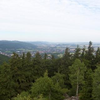 Panoramablick über die Harzer Landschaft.