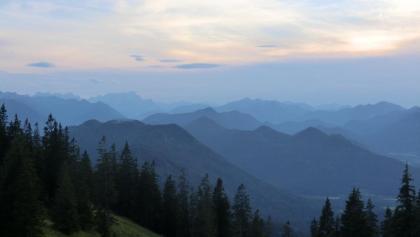 Abendliches Panorama beim Zustieg zur Tegernseer Hütte