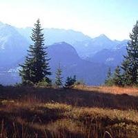 Saftige Wiesen und ein atemberaubendes Bergpanorama.
