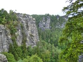 Foto Aussicht nach Norden von der Basteibrücke
