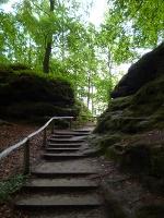 Foto Über Treppenstufen zur Bastei