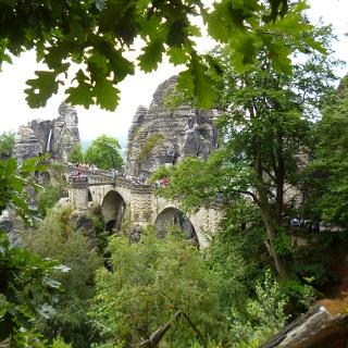 Die Basteibrücke, das Wahrzeichen der Sächsischen Schweiz