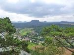 Foto Aussicht auf die Tafelberge des Elbsandsteingebirges